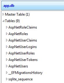Identity Schema SQLite