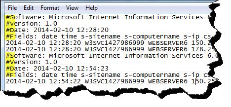 TextFieldParser Standard Log File