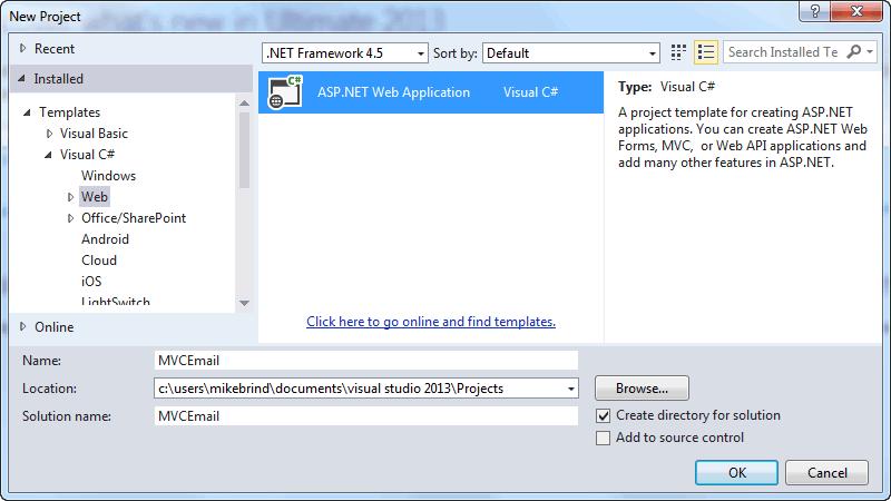 MVC5 Email