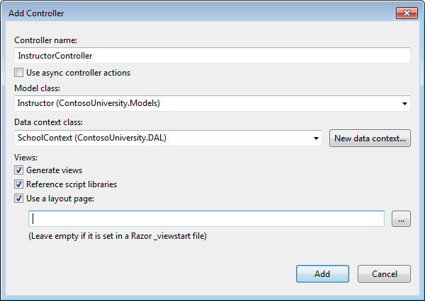 MVC5 With EF6