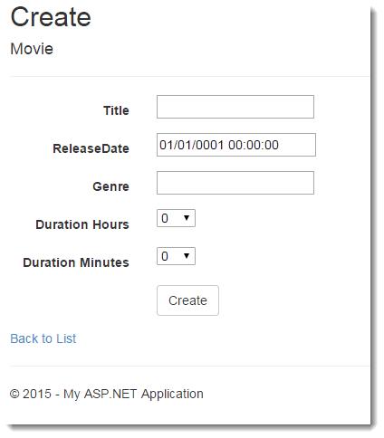 EF Recipe TimeSpans