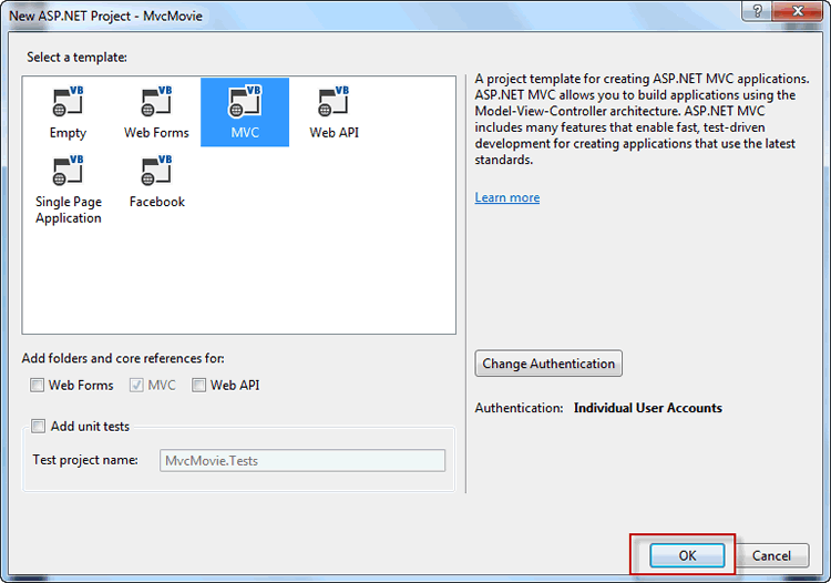 Getting Started with ASP NET MVC 5 using Visual Basic