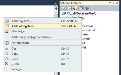 Building A Razor Web Pages Site With Database First And Entity Framework
