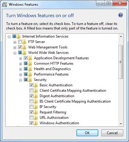 Windows Auth in IIS